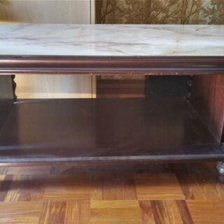 大理石調天板の応接間用テーブル 幅120cm