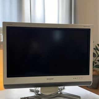 【ネット決済】【引渡先確定】SHARP 液晶TV26型ホワイト・...