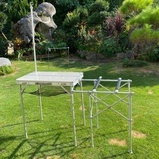 キャンプテーブル 調理台