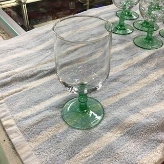 グラス 食器 未使用 グリーン