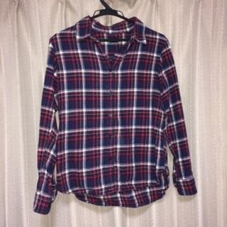 ユニクロ uniqlo チェックシャツ 赤 冬物