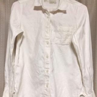 無印良品 コットンシャツ 白 冬物
