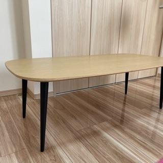 【ネット決済・配送可】【重厚感のあるダイニングテーブル(ロータイプ)】