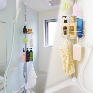 アイリスオーヤマ 突っ張りラック 浴室 ステンレス 伸縮 …