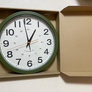 ほぼ未使用 静音秒針掛け時計