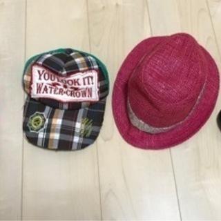中学生ぐらいの女の子用 帽子4つ