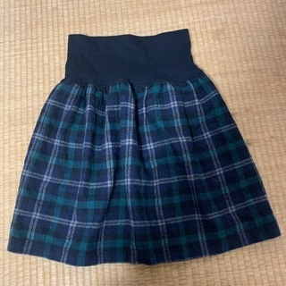 チェックスカート 冬素材 あったかスカート
