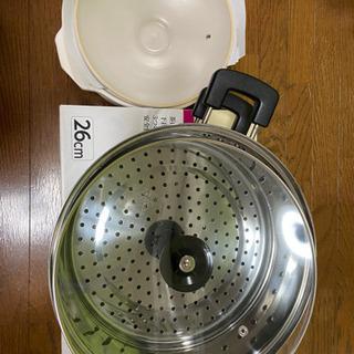 土鍋 ステンレス二段蒸し器のセット