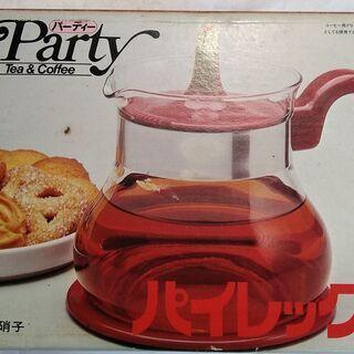 レトロ パイレックスのガラスポット 保温 ポット 湯沸かし…