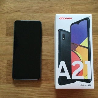 Galaxy A21  SC-42A  Black  docomo