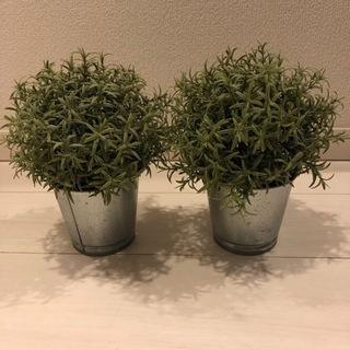 人工観葉植物 2個 IKEA