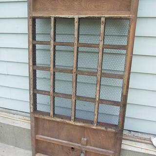 古い蔵戸 レトロ建具 鉄網 戸