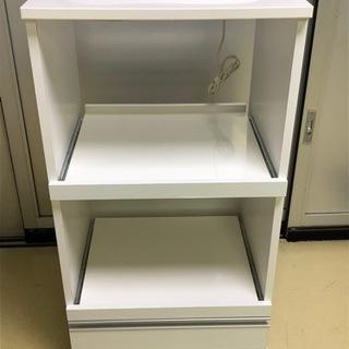 【ネット決済】【美品・中古品】食器棚 ホワイト ※格安で配送も可...