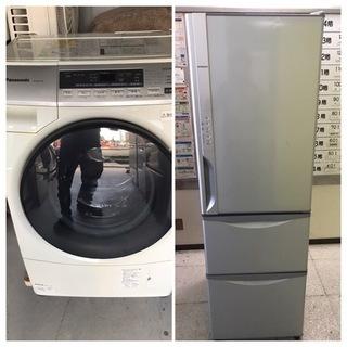 【直接引取送料無料】格安販売!! 小容量ドラム式洗濯機&3ドア冷...