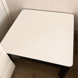 こたつテーブル 白 黒 リバーシブル