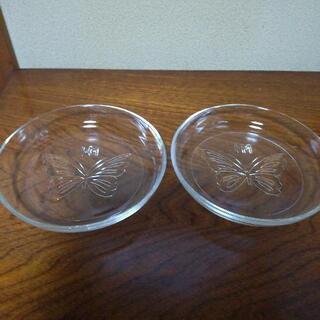 森 英恵  ガラス皿  2枚  未使用
