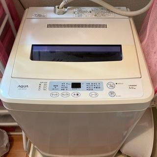 洗濯機 AQUA 6kg 2013年製