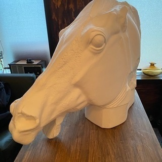 引き取り限定 石膏像ドットコム 堀石膏製作 セレネの馬 石…