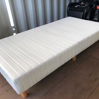 平塚市直接引取り限定 シングルベッド マットレス一体型 脚…
