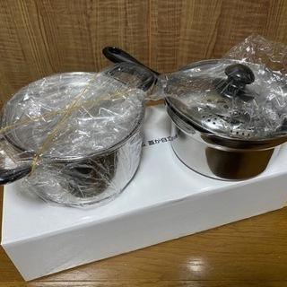 湯切り鍋&両手鍋 セット!