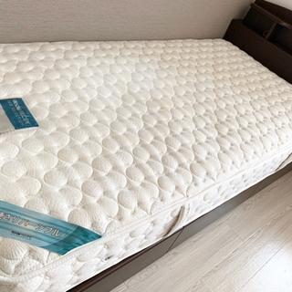 マットレス付き★シングルベッド