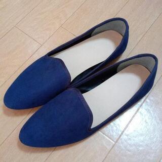 紺色のフラットシューズ Lサイズ 新品
