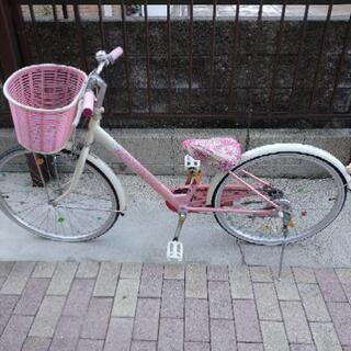 22インチの花柄自転車