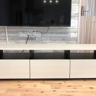 ホワイト木目調 テレビボード