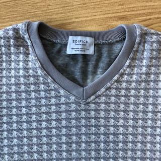 EDIFICE 綿ポリ薄手セーター メンズ