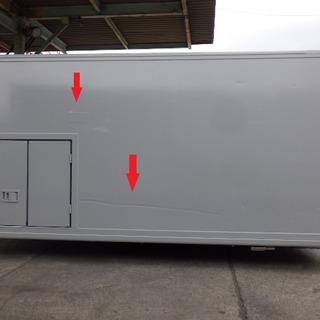 アルミバン ボデー 2t 小型 箱 コンテナ 物置 DIY 倉庫...