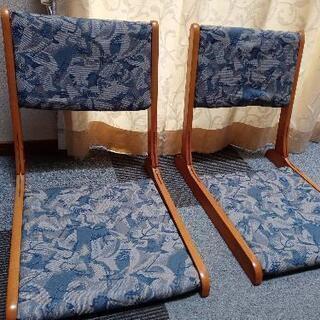 💺折り畳み式 座椅子💺2脚セット(中古)