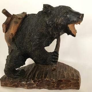 ■木彫り熊 クマ 北海道工芸 置物 インテリア■