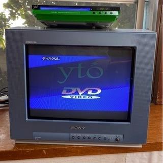 SONY ブラウン管テレビ と DVDプレーヤー