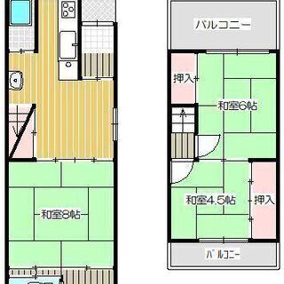 御堂筋線「西田辺駅」徒歩9分の【2階建テラスハウス】全洋室の3L...