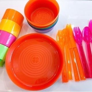 ★ IKEA プラスチック食器 キャンプ ホームパーティ ★