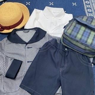 松山幼稚園 制服、鞄、帽子、洗い替え用の体操服 10点セット