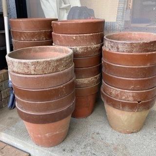 植木鉢*素焼き*25個