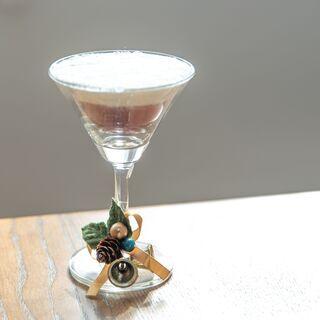 【クリスマスオーナメント】サンドアートのワイングラスオーナメント...