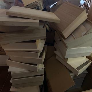 お取り寄せ商品の入っていた木箱