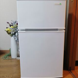 ★美品★ヤマダ電気 オリジナル 90L冷凍冷蔵庫 2ドア コンパ...