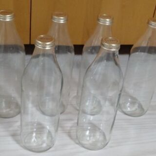 差し上げます☆1リットル空き瓶6本★11/1まで!