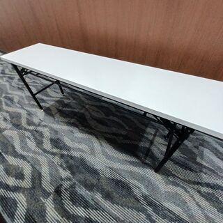 会議テーブル 折りたたみ長机 ホワイト