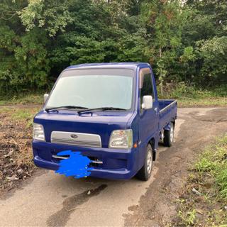 【ネット決済・配送可】軽トラ サンバー 4WD 5MT ミッショ...