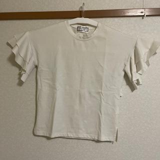 レディース服  袖フリルTシャツ