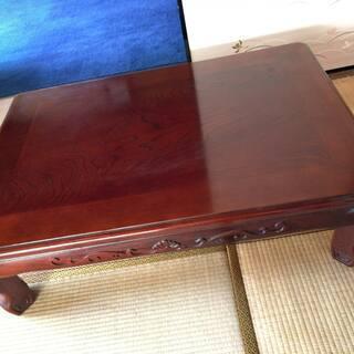 ★木製 重厚 和室テーブル 折りたたみ式 机 83cmx 118...