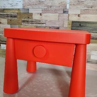 配送無料 かわいい赤のサイドテーブル!