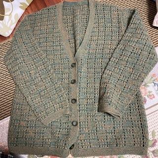 レトロな手編み風ニットカーディガン お値下げしました!