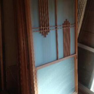 築150年古民家の建具★扉ドアすりガラス
