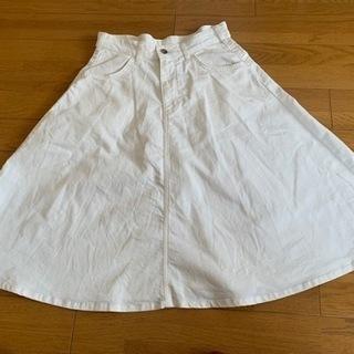 白デニムスカート