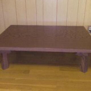 座卓テーブル 木製足